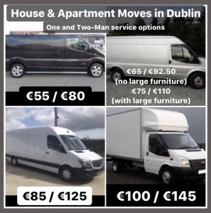 Various van sizes for home moving services without goods-in-transit insurance