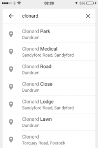Google Maps District Info Issues 2