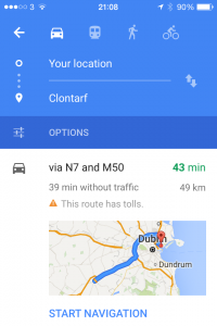 Google Maps Multiple Route Options 1