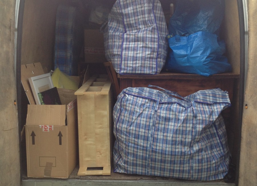 Man with a Van in Dublin offering transport of boxes and bags of household belongings