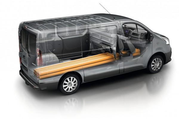 Visual representation of small van capacity