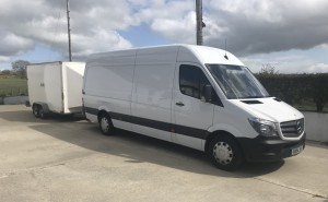 Extra-Large Van and Trailer for Bangor House Removals