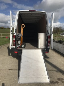 Van with Ramp for Man with a Van Tyrone Removals
