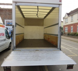 Ford Transit Luton with Tail Lift for House Removals in Offaly