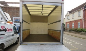 Luton Box-Body Van (Inside) for Office and House Removals in Lisburn