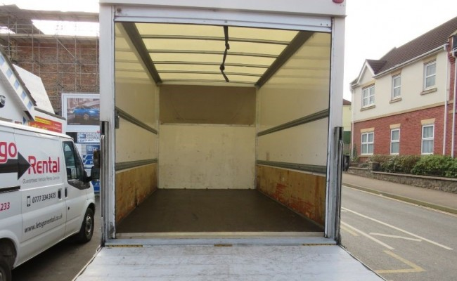 Luton Van for House Removals - Loading Area