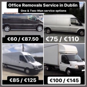 Various van sizes for office moving services without goods-in-transit insurance