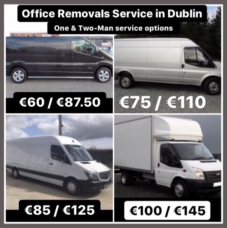 Various Van Sizes for Office Removals in Dublin
