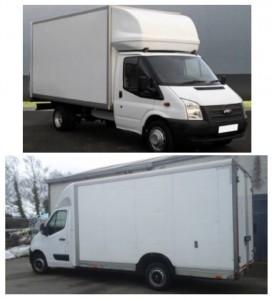 Luton Van and Lowloader Van