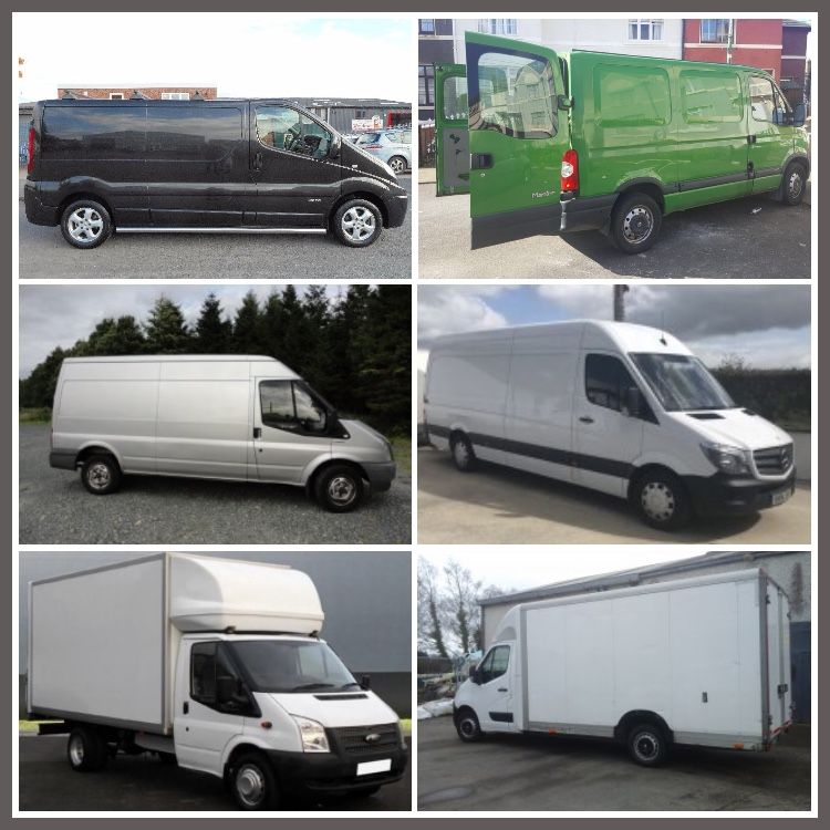 Moving Van Sizes Available for Apartment & House Removals in Dublin