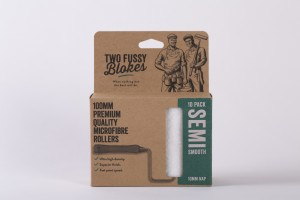Two Fussy Blokes MICROFIBRE 100mm (4 inch) - 10mm Paint Rollers