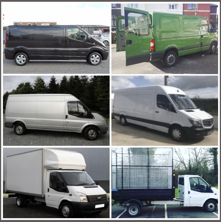 6 Van Sizes for Moving Services and a Dedicated Van for Disposals