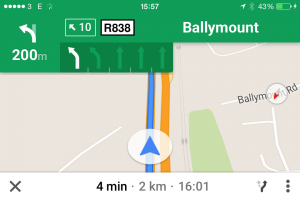 Google Maps Lane Visualisation Info