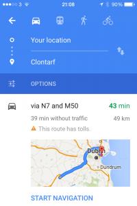 Google Maps Multiple Route Options 1
